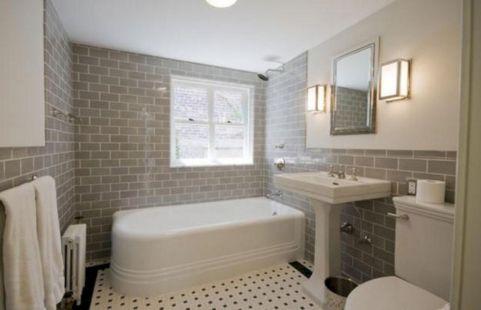 Modern Vintage Bathroom Design 17