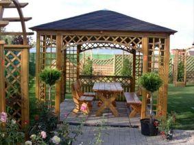 Backyard Garden Ideas With Seating Area 11