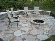 Backyard Patio With Stone Firepit 11