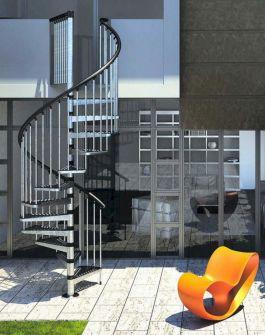 Exterior Spiral Staircase Ideas 11