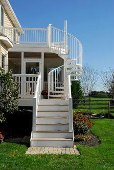 Exterior Spiral Staircase Ideas 12