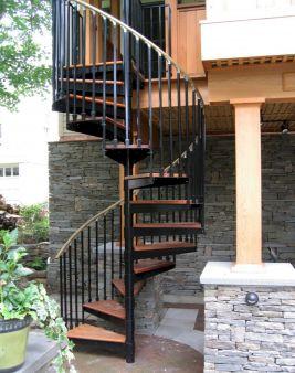 Exterior Spiral Staircase Ideas 14