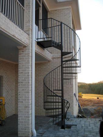Exterior Spiral Staircase Ideas 2