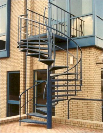 Exterior Spiral Staircase Ideas 22