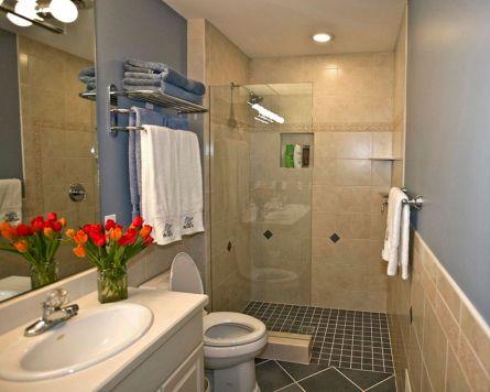 adorable 25 small bathroom shower doorless design ideas