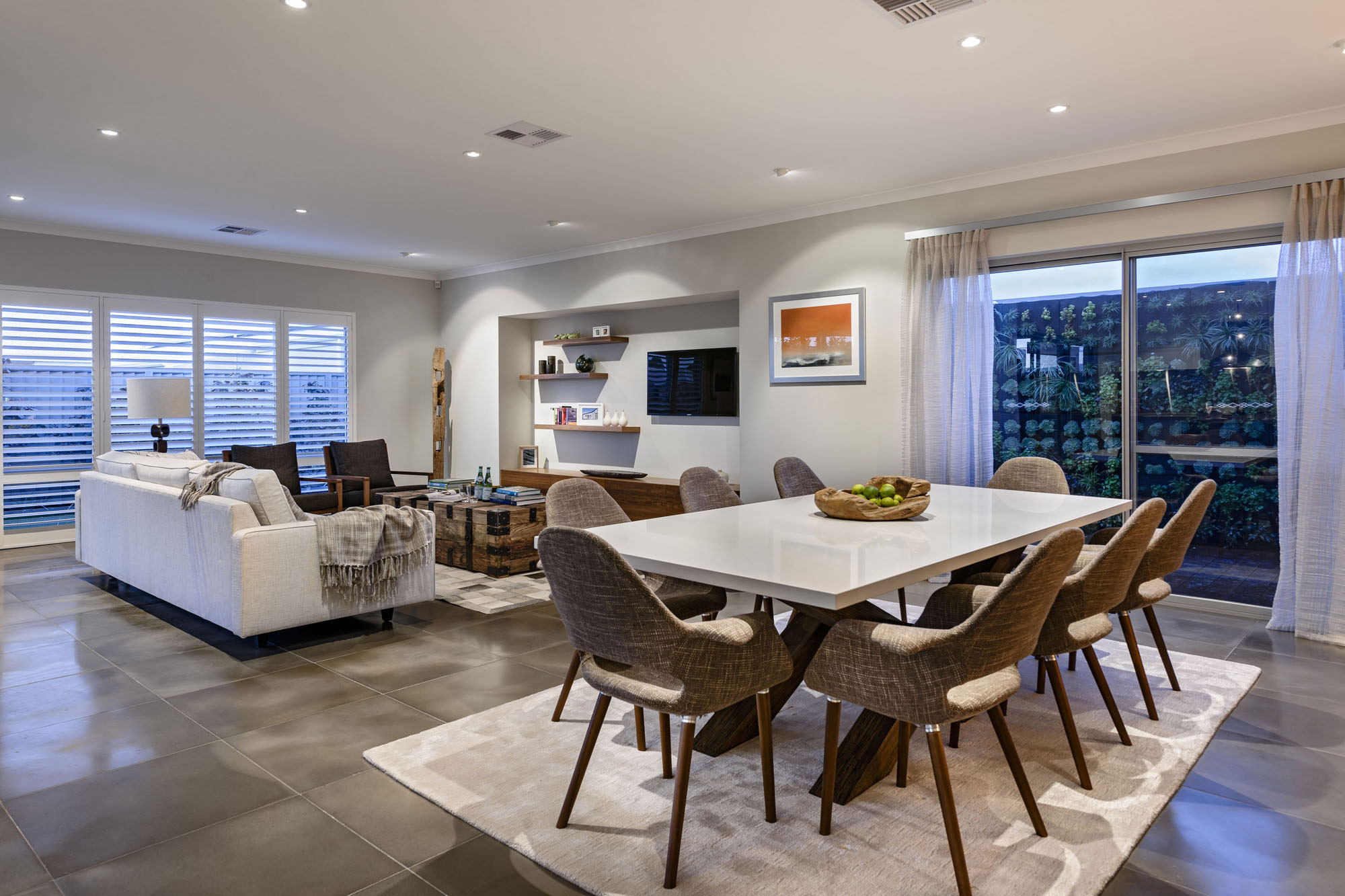 Dining Table, Rug, Open Plan Living, Dining Space, Modern