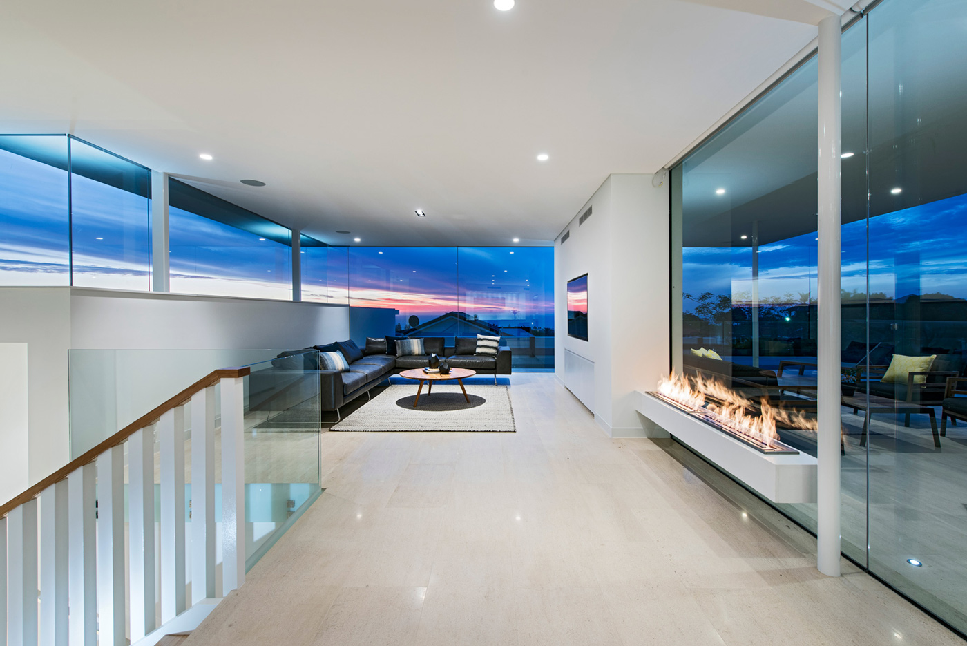 Inside Fireplace Decor Stylish Modern Home In Perth, Australia