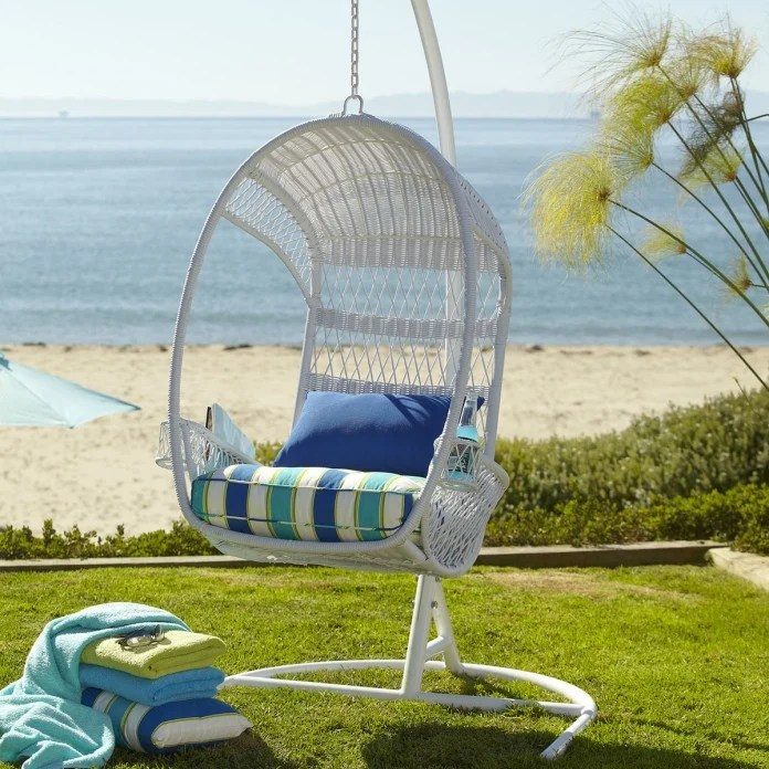 swingasan hanging chair swivel cuddle patio chairs 25 most comfortable designs white with a colorful cushion