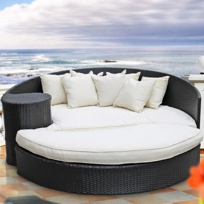 hanging chair edmonton desk amazon uk 41 fabulous outdoor wicker furniture design ideas for your patio round day bed ocean