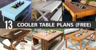 13 DIY Cooler Table Plans to Build for Outdoor Beer ...