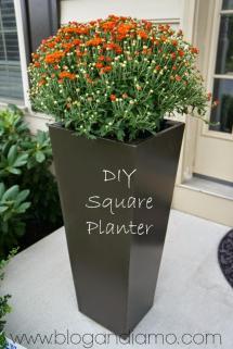 Tall Planter Box Plans Diy Vertical & Trapezoid
