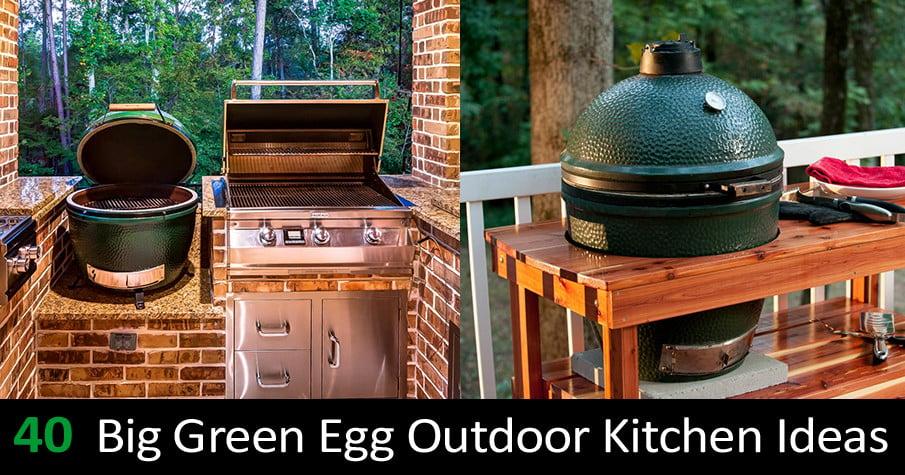 40 big green egg outdoor kitchen ideas