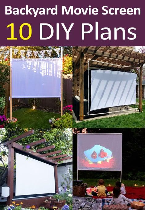 diy backyard movie screen plans