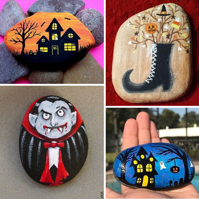 That's because heavy makeup, particularly with silicone, dimethicone, and waxes, can clog pores and increase breakouts. 30 Best Halloween Rock Painting Ideas Cute And Simple Images