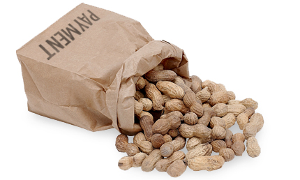 Advertising for Peanuts Bag