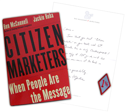 Citizen Marketers Book and Patch