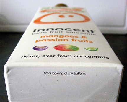 Innocent Smoothies Packaging Hot Bottom