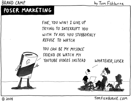 Poser Marketing Cartoon