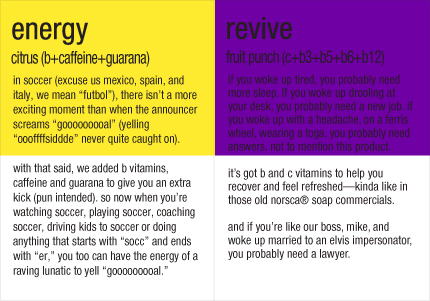 Vitamin Water Label Energy Revive