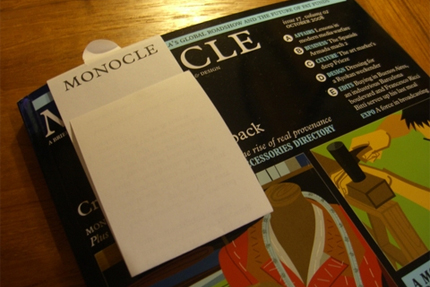 Monocle Personal Note to Diego Rodriguez