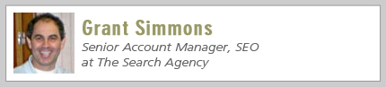 Grant Simmons, Senior Account Manager, SEO at The Search Agency