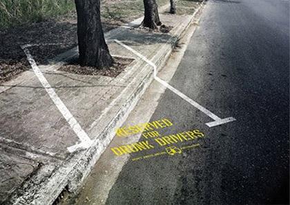 Drunk Driving Street Ad