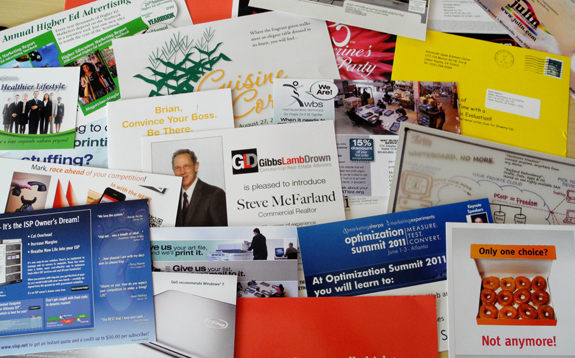 Marketing Advertising Postcard Pile