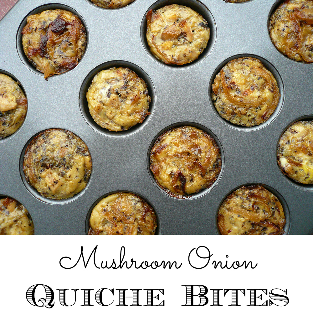 Mushroom Onion Quiche Bites - GrokGrub.com