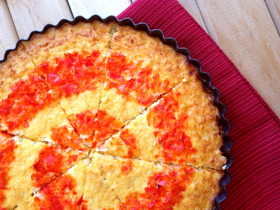 Cheesy Cauliflower Swirl Quiche - GrokGrub.com