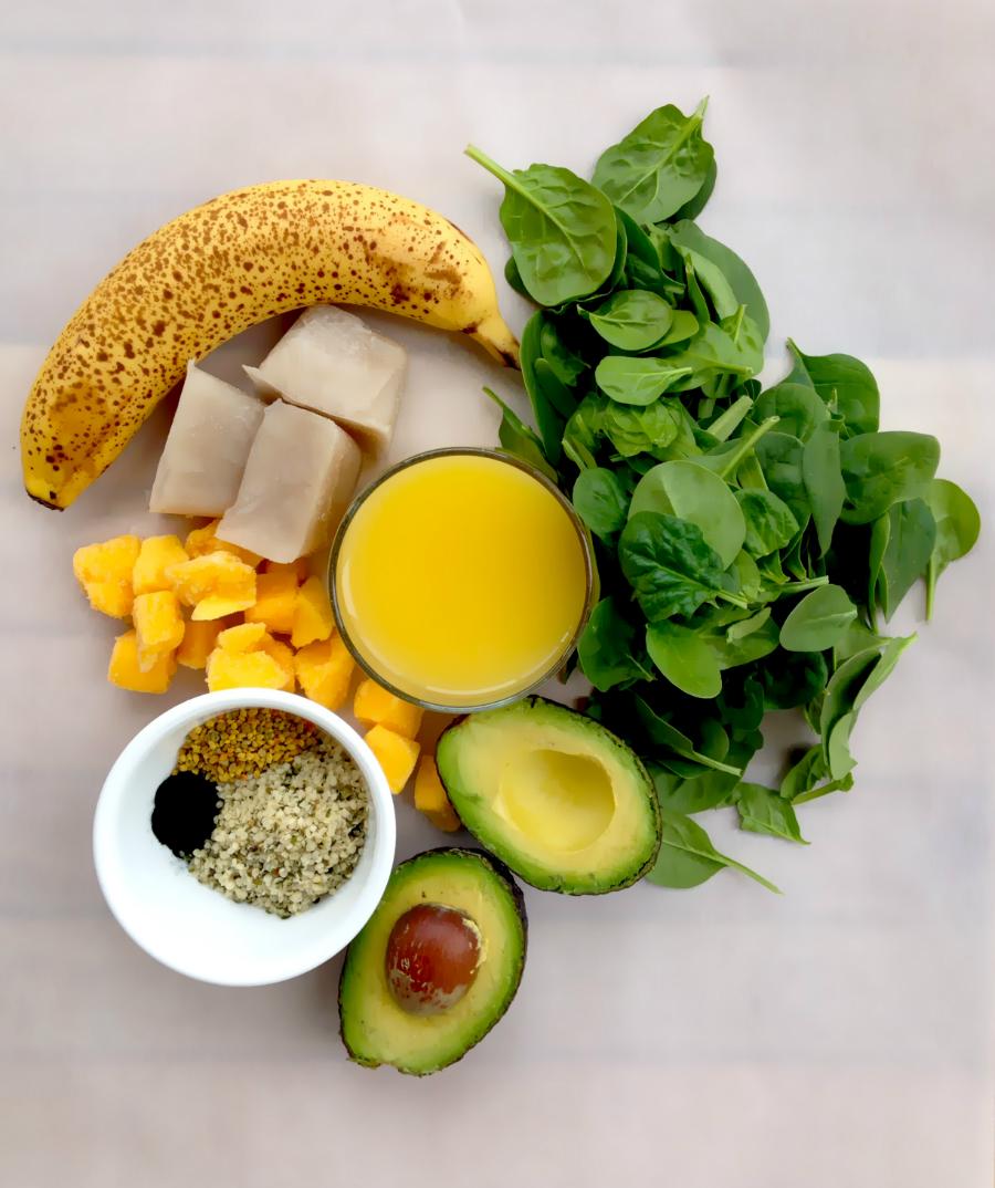Green Breakfast Smoothie Ingredients - Fresh Planet Flavor