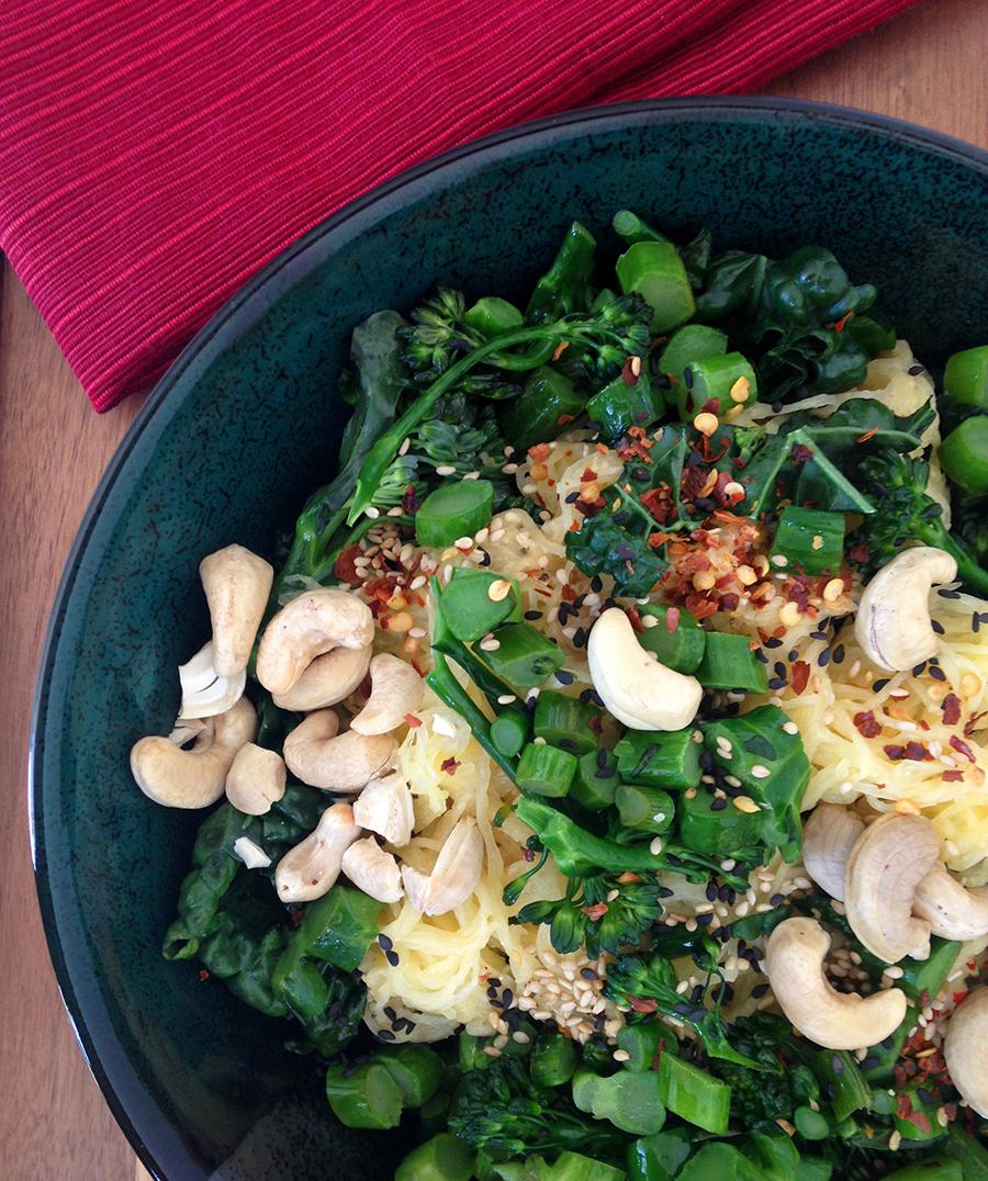 Spaghetti Squash Yoga Bowl (Paleo & Vegan) | Fresh Planet Flavor