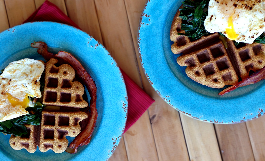 Savory Sweet Potato Waffles Recipe (Paleo, Grain/Nut/Dairy/Sugar-free) | Fresh Planet Flavor