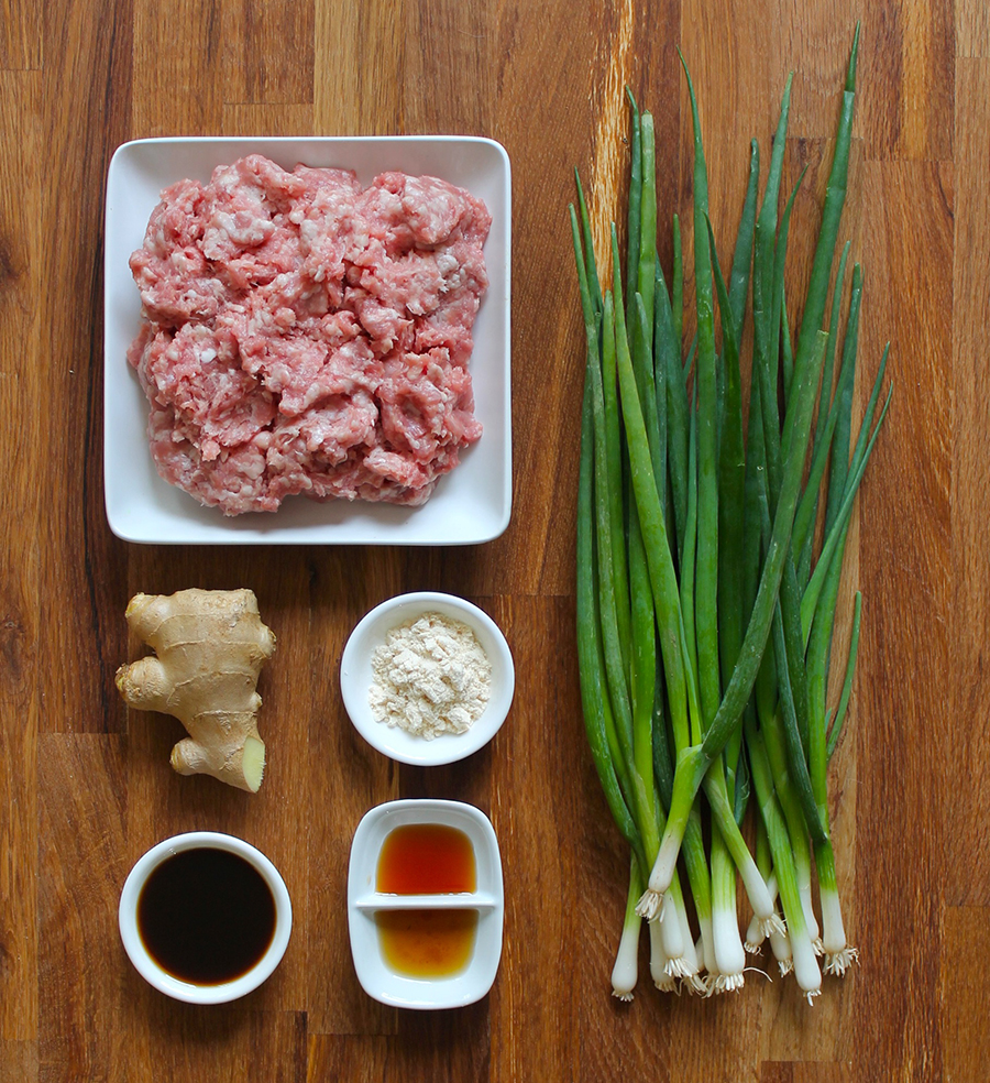Ginger Scallion Pork Meatballs by Zenbelly | GrokGrub.com