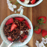 Triple Chocolate Granola - 100 Paleo Valentine's Day Recipes (breakfast, drinks, appetizers, entrées and desserts!) | GrokGrub.com
