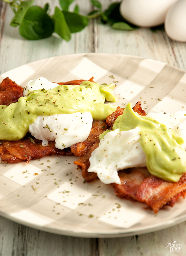 Eggs Benedict With Avocado Sauce - 12 Fresh Avocado Recipes | GrokGrub.com