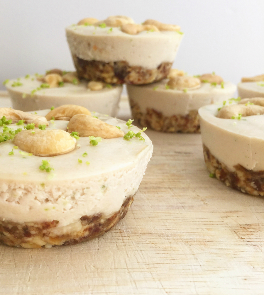 "Mini Key Lime Pie ""Cheesecakes "" (dairy free, raw, vegan, paleo) 