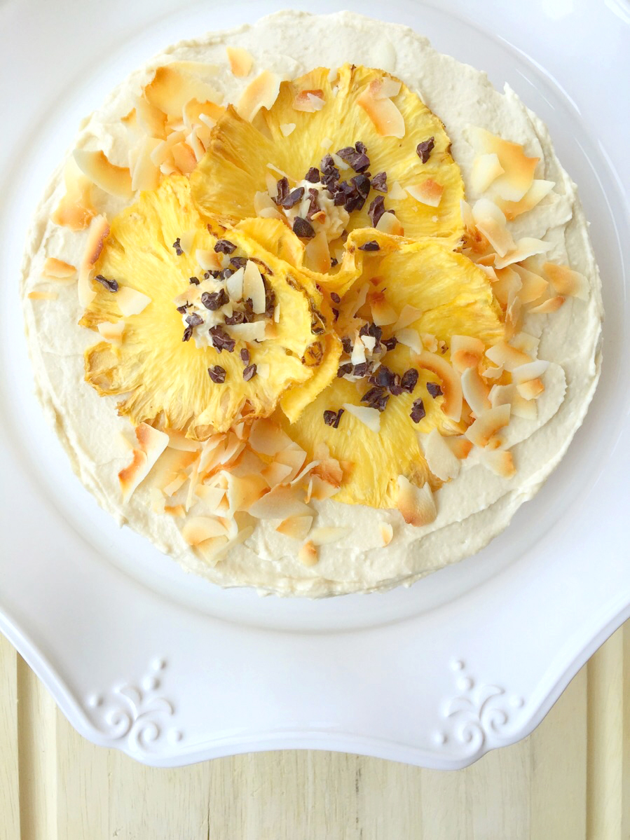 This Pineapple Dreams Coconut Cake is a slice of tropical paradise on a plate! | Fresh Planet Flavor