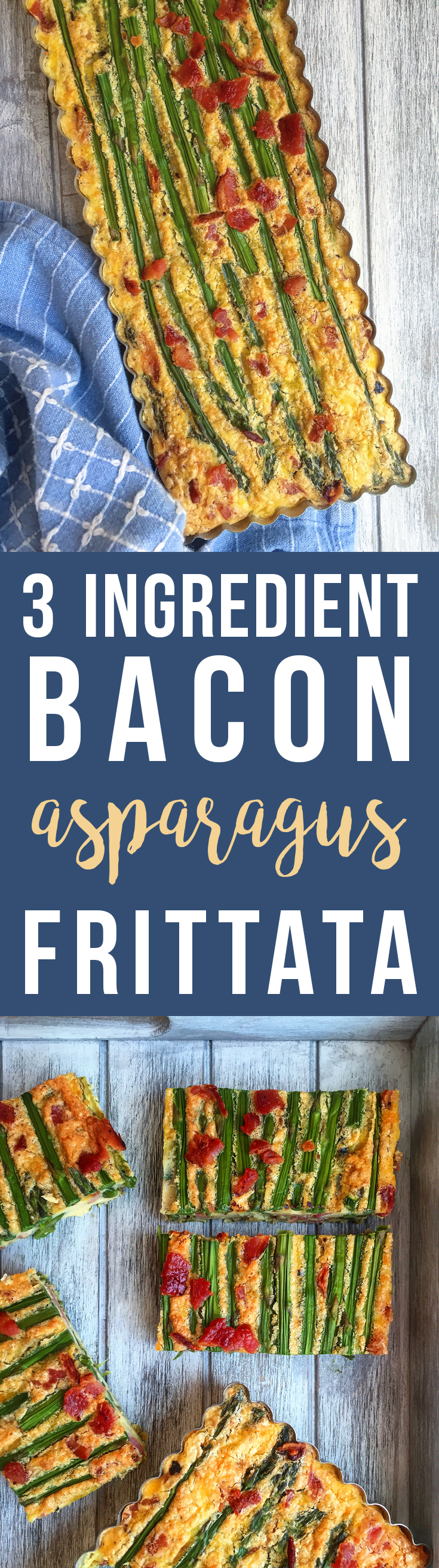 3 Ingredient Bacon Asparagus Frittata - perfect for both lazy weekends or brisk weekday mornings! GrokGrub.com