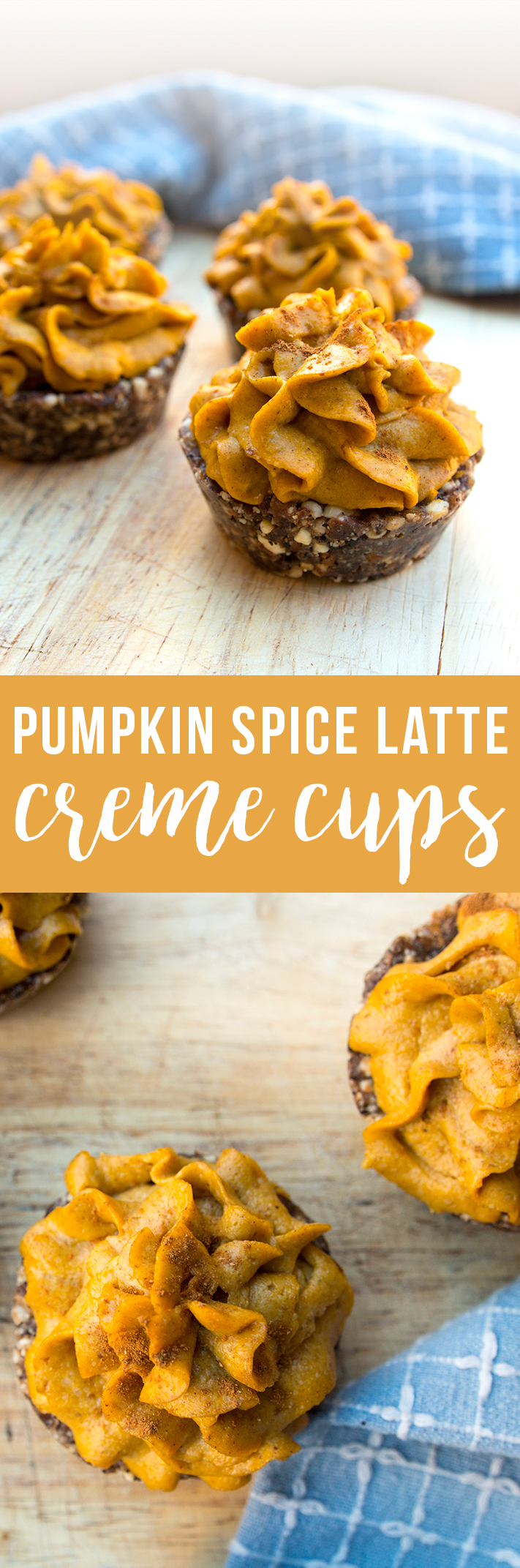Pumpkin Spice Latte Creme Cups: dairy free, and sweetened only with fruit! Vegan, paleo, healthy... get the recipe!