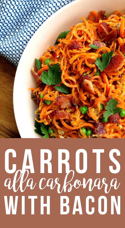 Carrots alla Carbonara (grain/dairy-free, paleo) | Fresh Planet Flavor