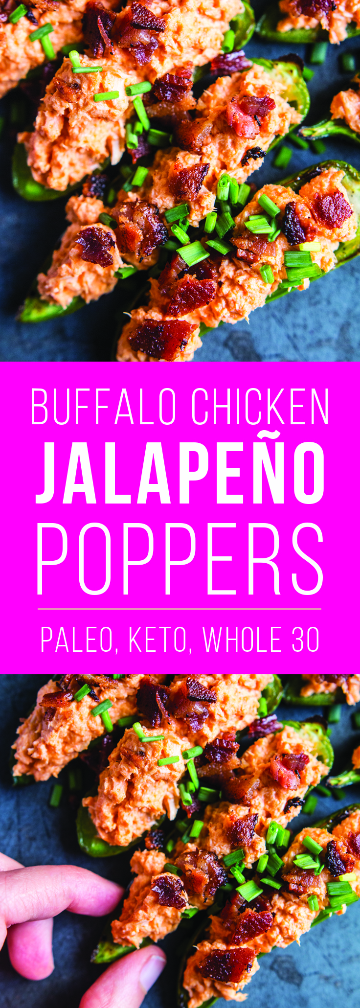 Buffalo Chicken Jalapeño Poppers (keto, paleo) | Fresh Planet Flavor