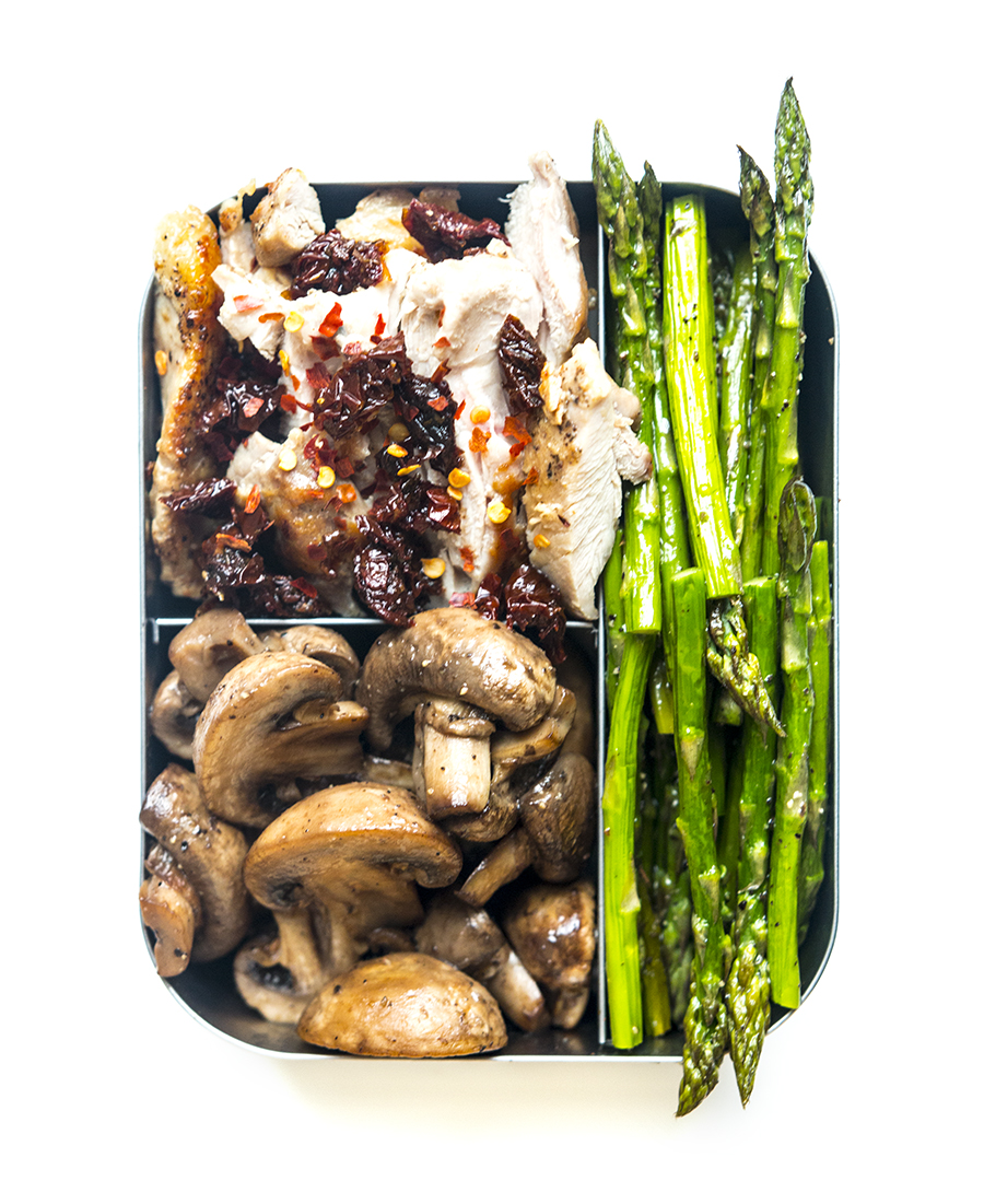 Tuscan Chicken with Mushrooms and Asparagus