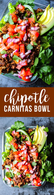 Chipotle Carnitas Bowl (Whole30, paleo, keto) - Fresh Planet Flavor