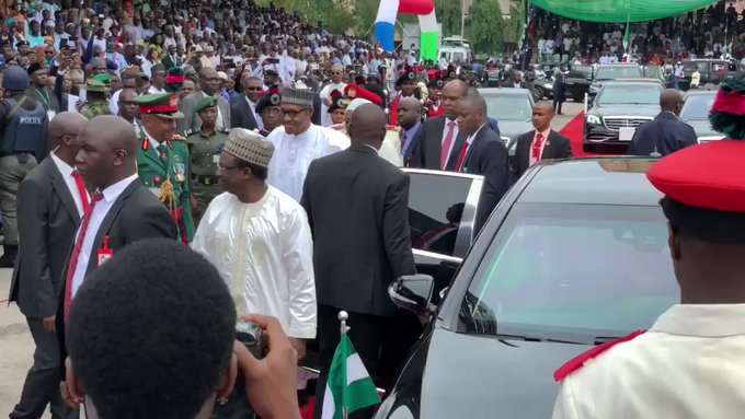 Buhari arrives Eagles Square for Democracy Day celebration