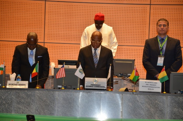 ECOWAS President Jean Claude Brou at the opening of the ECOWAS Parliament in Abuja