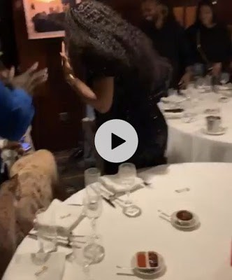 Sweet Moment Davido Went On His Knee To Ask Chioma To Marry Him