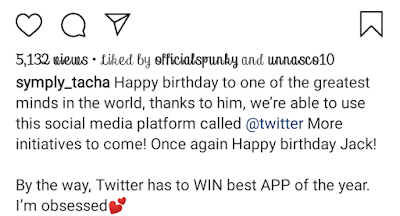 Tacha Wishes Jack Dorsey A Happy Birthday In Live Video Call