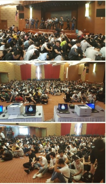 1,000 Chinese Scammers Arrested Inside A House In Malaysia (Photos)