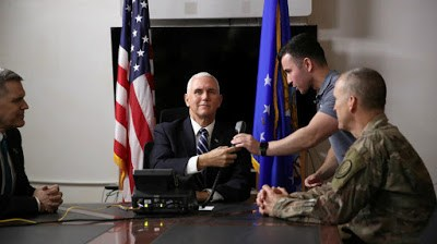 U.S Vice President Pence Makes Surprise Visit To Iraq