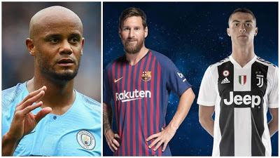 Vincent Kompany Names Hardest Player To Play Against Between Messi And Ronaldo